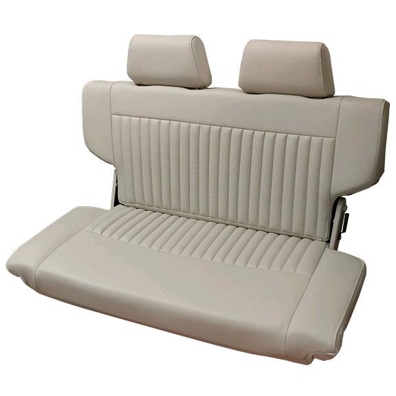 PREMIUM Rear Fold & Tumble Seat - Parchment w/Brackets, Blemished, #20
