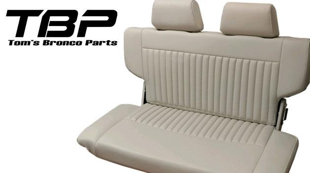 PREMIUM Rear Fold & Tumble Seat - Parchment w/Brackets, pair