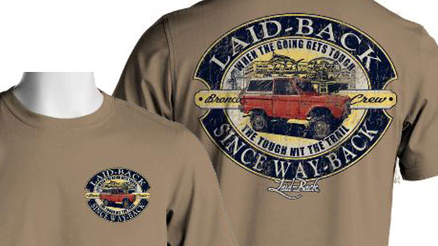 Laid Back Bronco T-Shirt - Tough Bronco (Khaki)