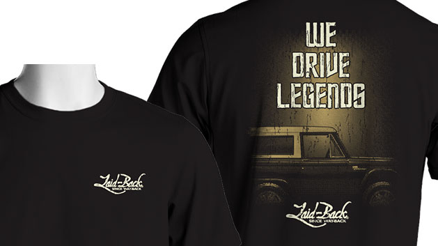 "Laid Back Bronco T-Shirt - ""Legends"" Bronco, Black"