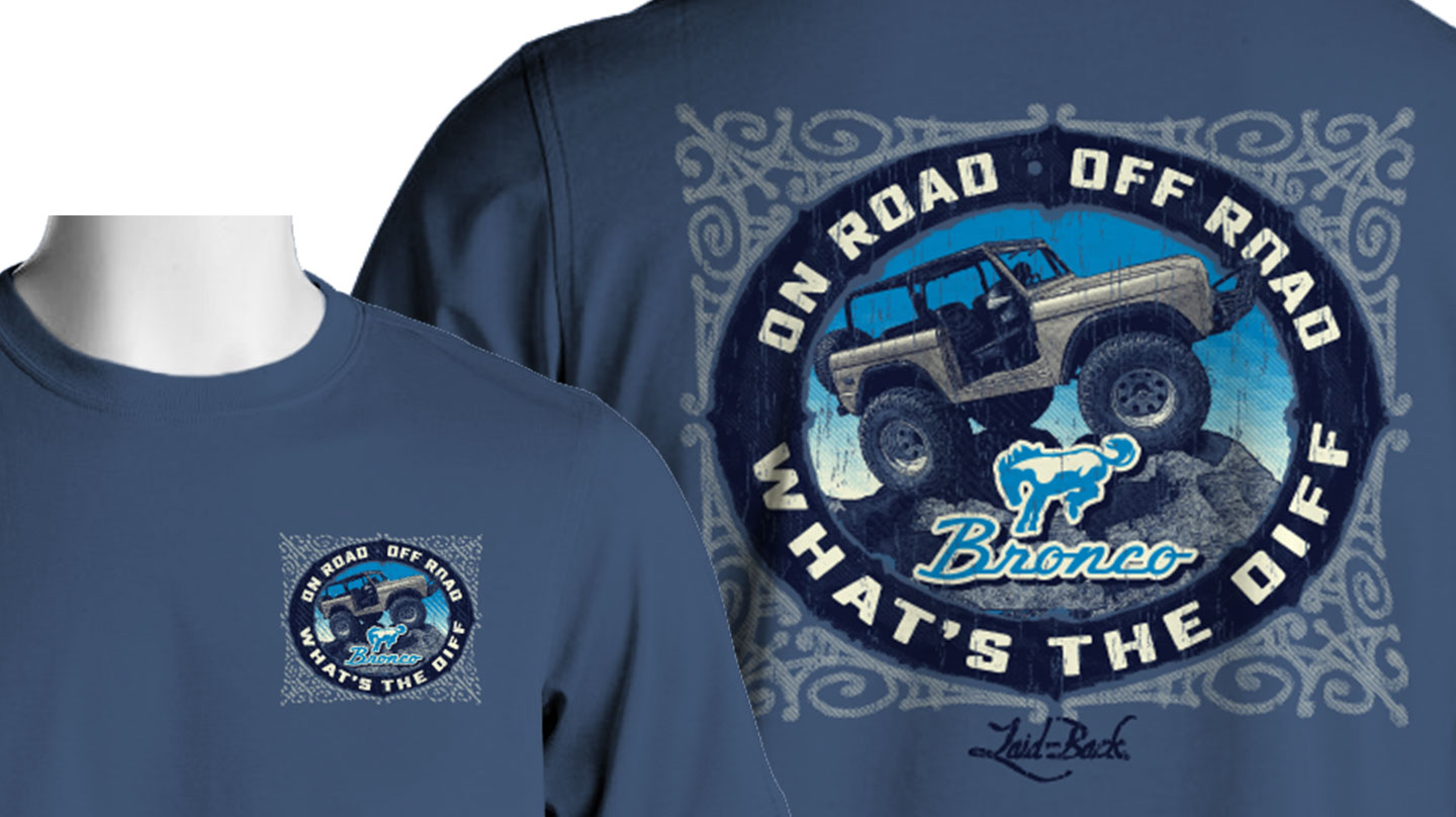 Laid Back Bronco T-Shirt - What's the Diff (Blue)
