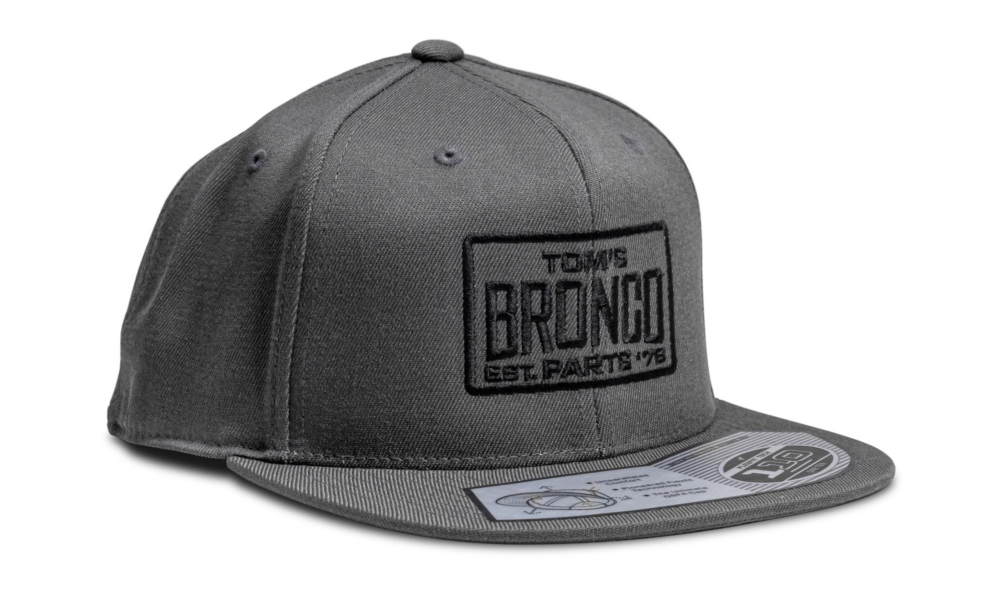 TBP 110 Box Logo Hat - Gray w/Black Thread