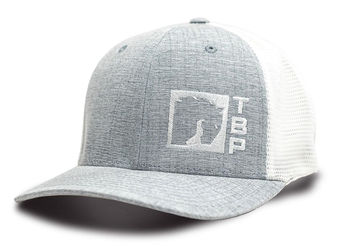TBP 110 Trucker Hat - Light Gray w/White