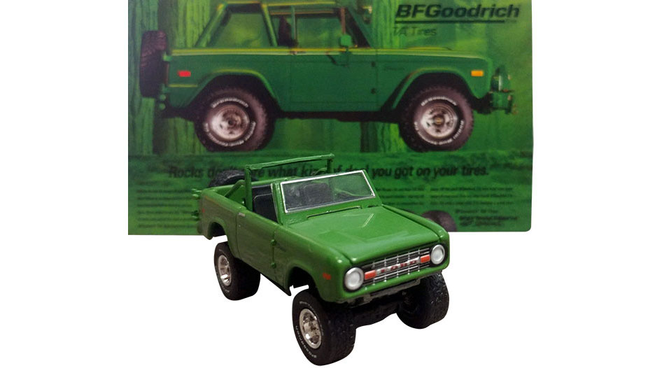 "1971 Ford Bronco - Hobby Exclusive ""Take Control"" BF Goodrich, 1:64 Die Cast"