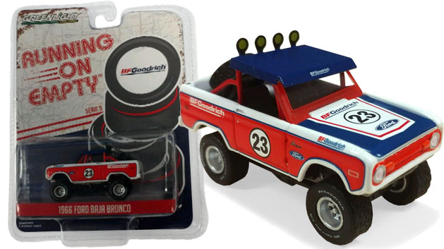 1966 Ford Bronco - Running on Empty Series 5, BF Goodrich, 1:64 Die Cast