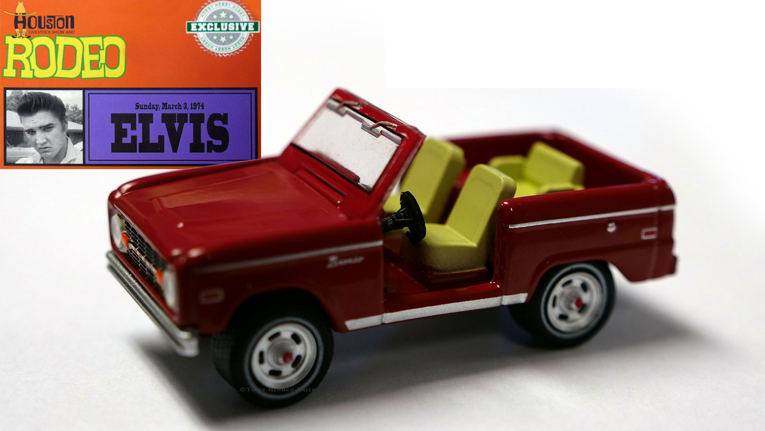 1974 Ford Bronco - Elvis Presley, Live at Houston Livestock Show & Rodeo, 1:64 Die Cast