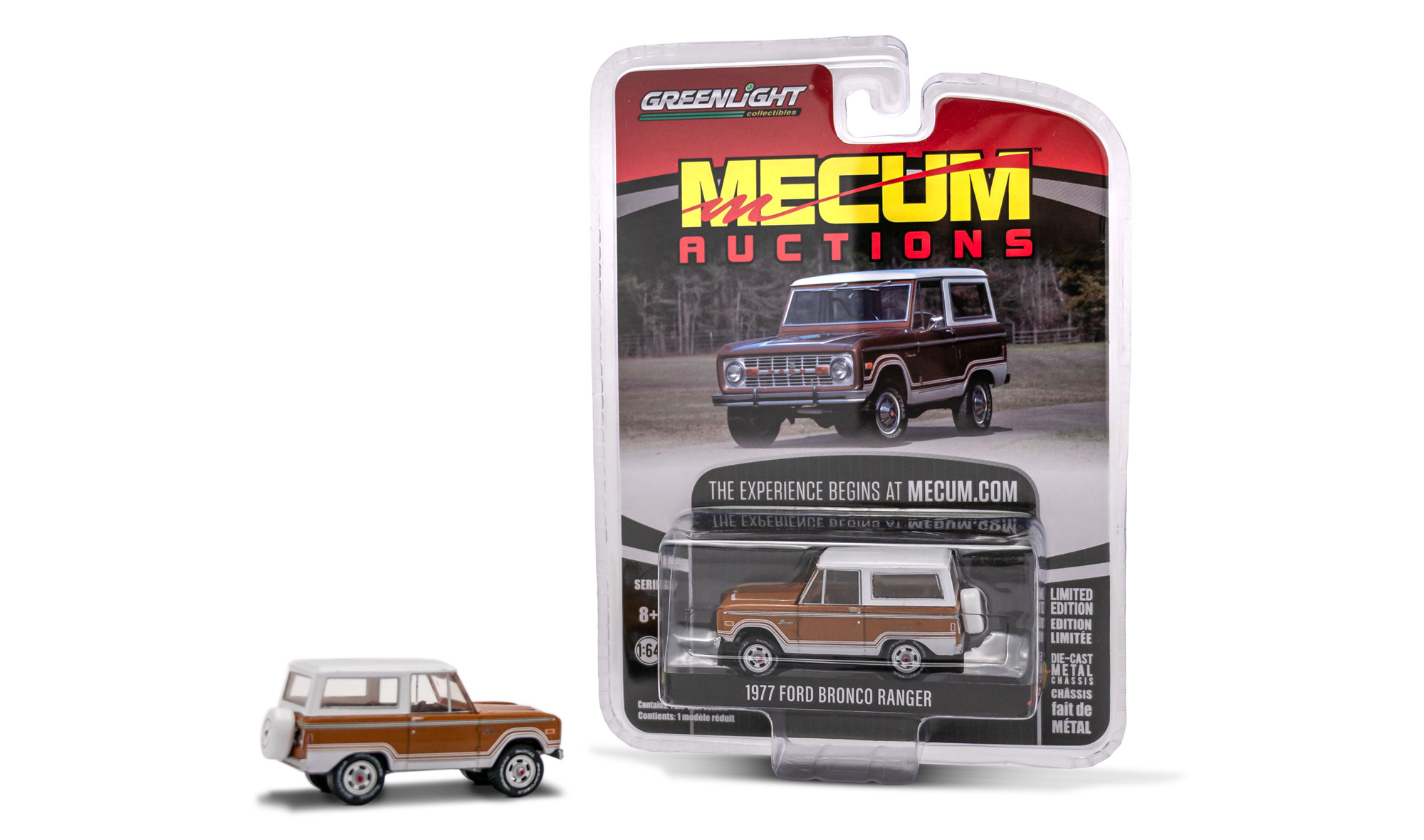 1977 Ford Bronco Ranger - Brown, Mecum Auctions 1:64 Die Cast