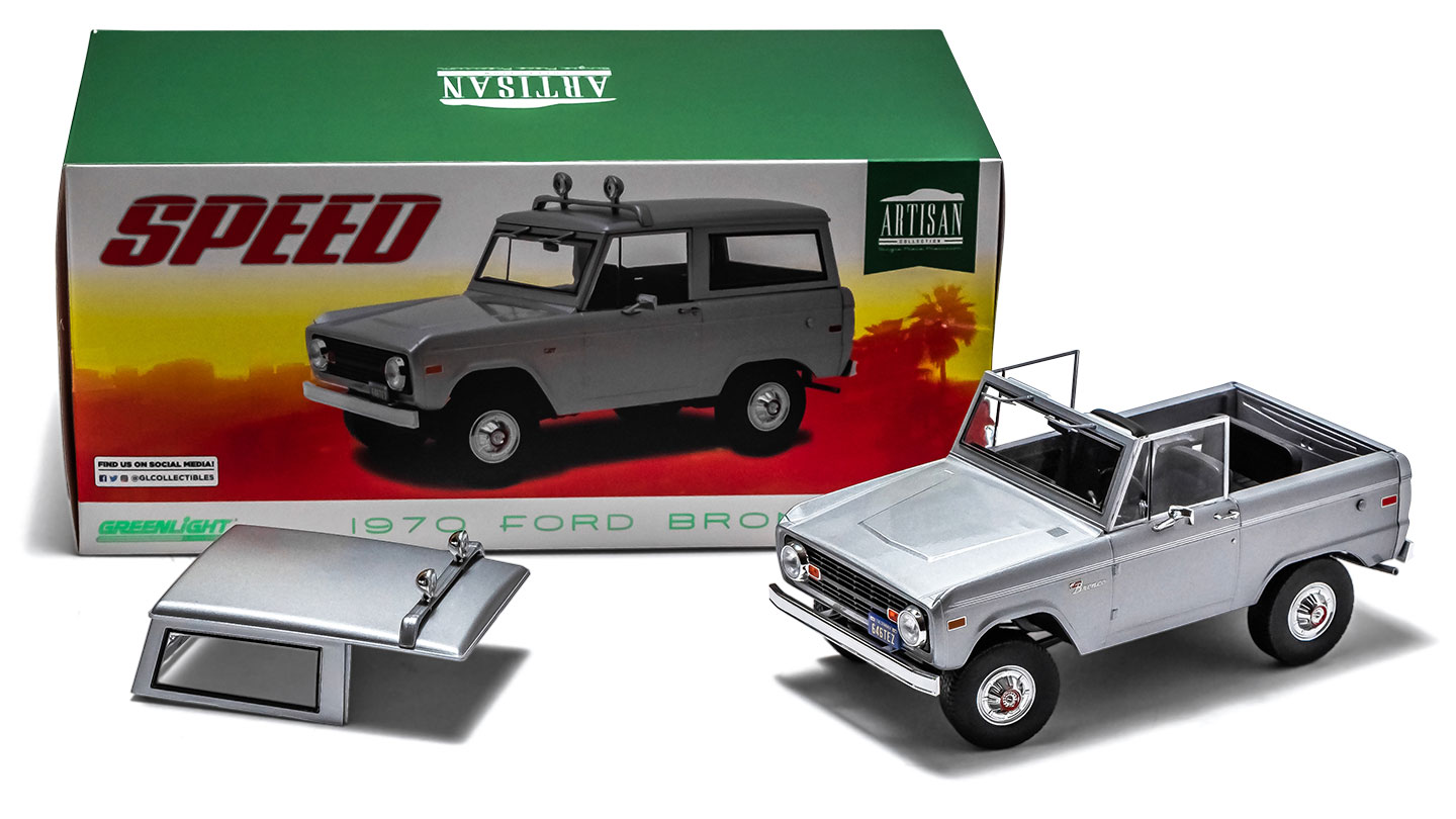 1970 Ford Bronco - Speed (Movie), Gray 1:18 Artisan Greenlight Die Cast