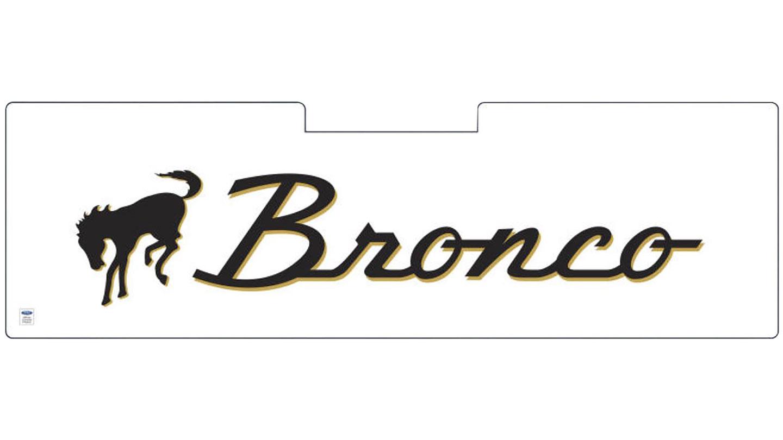 Sun Shade w/ Bronco Script