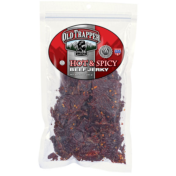 Old Trapper Beef Jerky - Hot & Spicy, 10 oz Bag