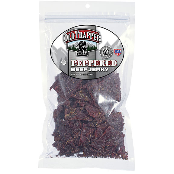 Old Trapper Beef Jerky - Peppered, 10 oz Bag