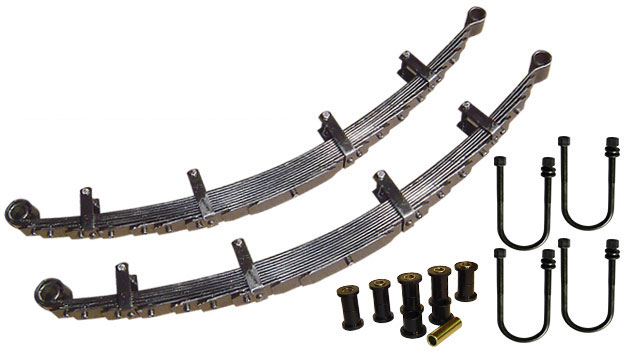 "Leaf Springs w/Bushings & U-Bolts, Ultra Flex 9-pack, 2.5"" Lift, pair"