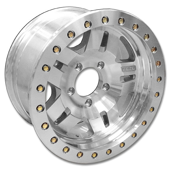 Fuel ANZA Beadlock Wheel, Polished Aluminum - 17x9, 5x5.5 Bolt Pattern - *FREE Ground Shipping