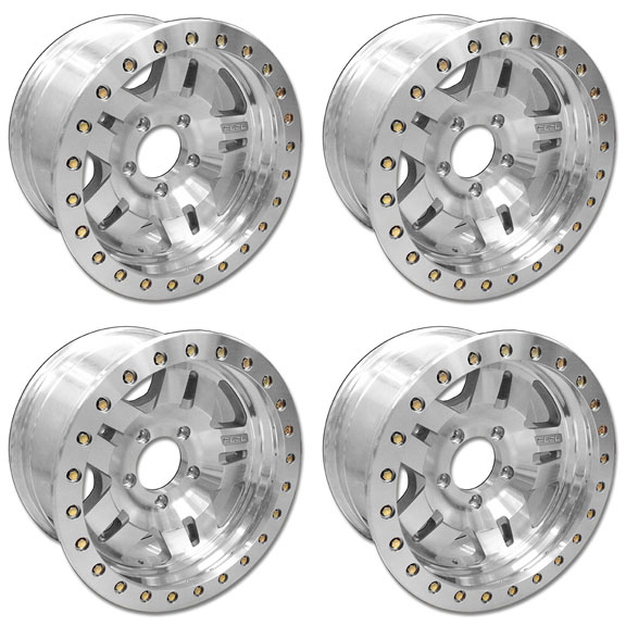 Fuel ANZA Beadlock Wheels - 17x9, 5x5.5 Bolt Pattern, SET of 4, FREE Ground Shipping