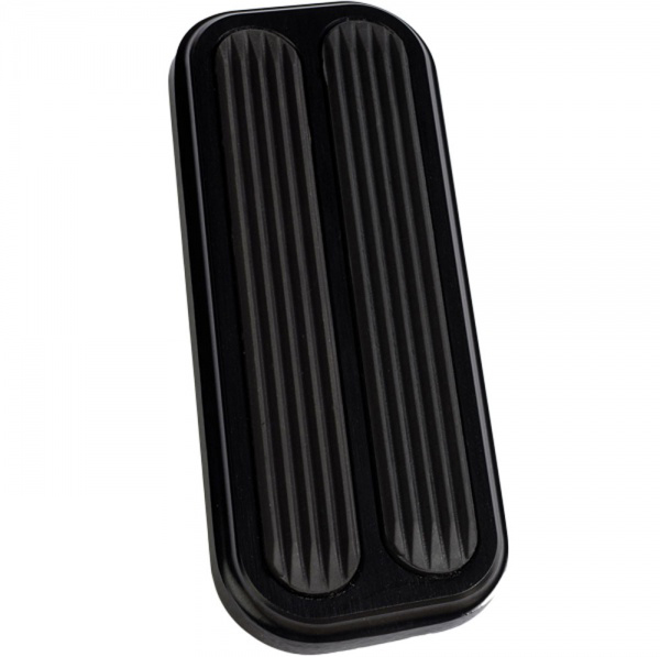 Accelerator Gas Pedal Pad - BLACK Billet Aluminum w/Rubber Grip