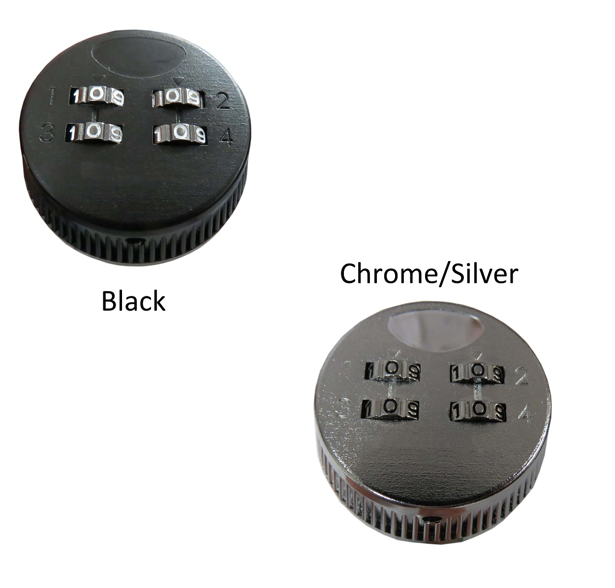 Locking Security Console Combination Lock, Chrome or Black