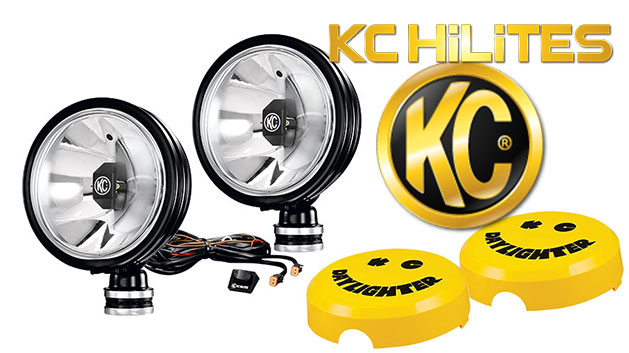KC Hilites LED Gravity Daylighters, Black w/Spot Beam