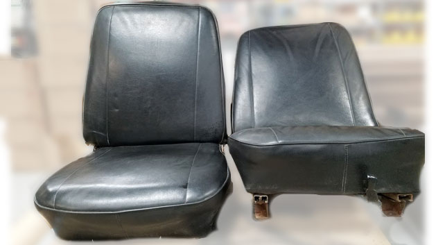 OEM Style Front Bucket Seats w/ Mounting Brackets, Pair, Used, 66-77 Early Ford Bronco #3