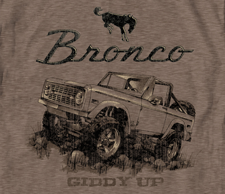 "Ford Bronco ""Giddy Up"" T-Shirt, Brown"