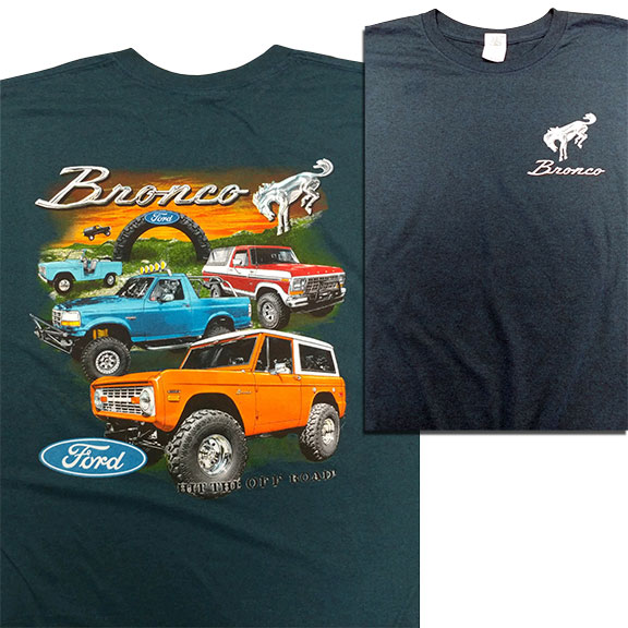 "Ford Bronco ""Hit the Off-Road"" T-Shirt, Blue"