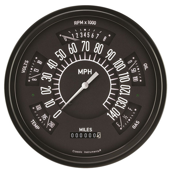 CLASSIC INSTRUMENTS Electronic Gauge Cluster - Black Face