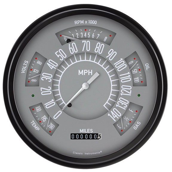 CLASSIC INSTRUMENTS Electronic Gauge Cluster - Gray Face