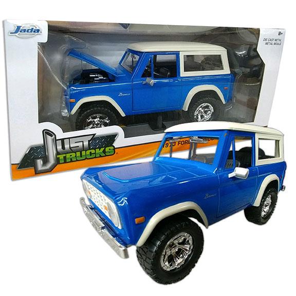 1973 Ford Bronco - Jada ''JUST TRUCKS'', 1:24 Die Cast, Blue