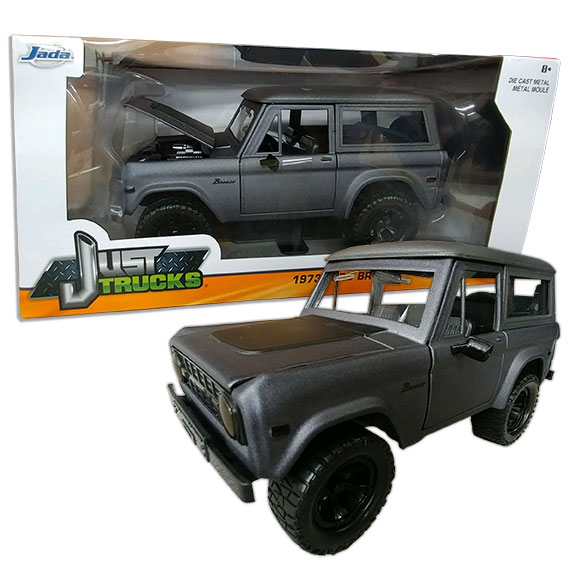 1973 Ford Bronco - Jada ''JUST TRUCKS'', 1:24 Die Cast, Gray