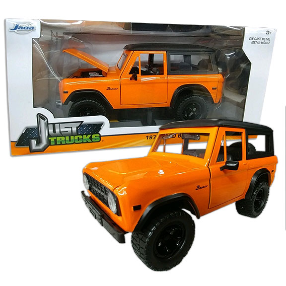 1973 Ford Bronco - Jada ''JUST TRUCKS'', 1:24 Die Cast, Orange