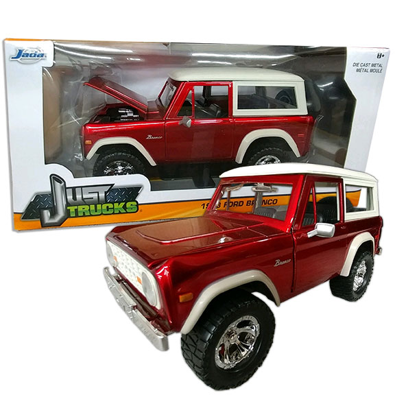1973 Ford Bronco - Jada ''JUST TRUCKS'', 1:24 Die Cast, Red