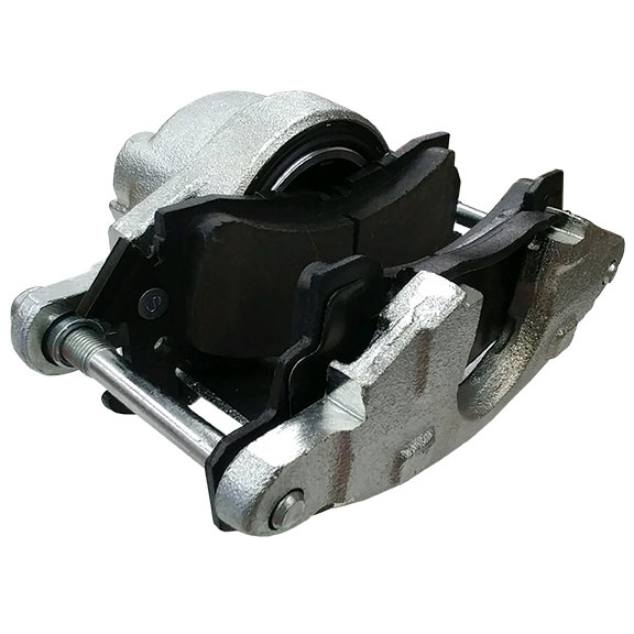 Front Brake Caliper w/ Pads for Disc Conversions, Driver Side, 66-75 Bronco