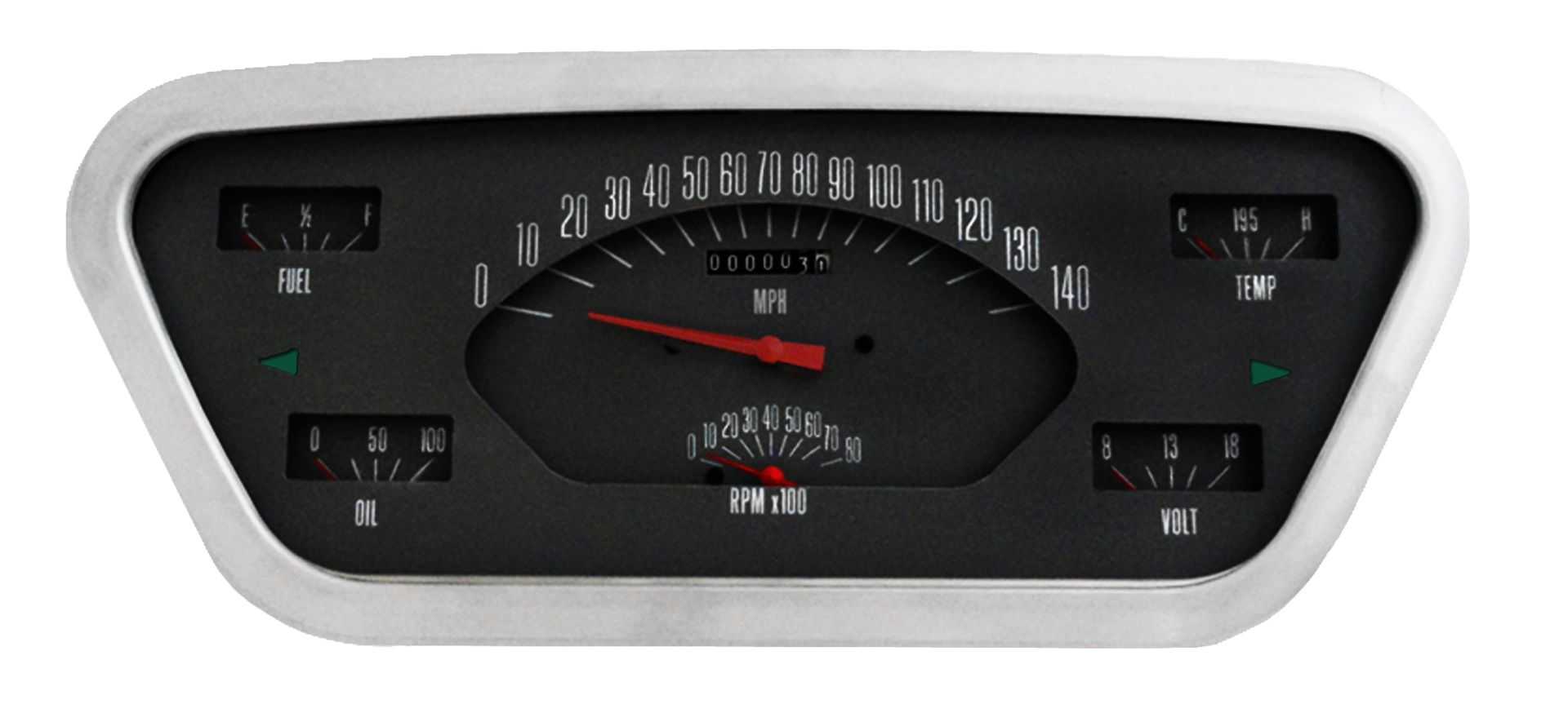 CLASSIC INSTRUMENTS Gauge Cluster - 53-55 Ford F100, Black