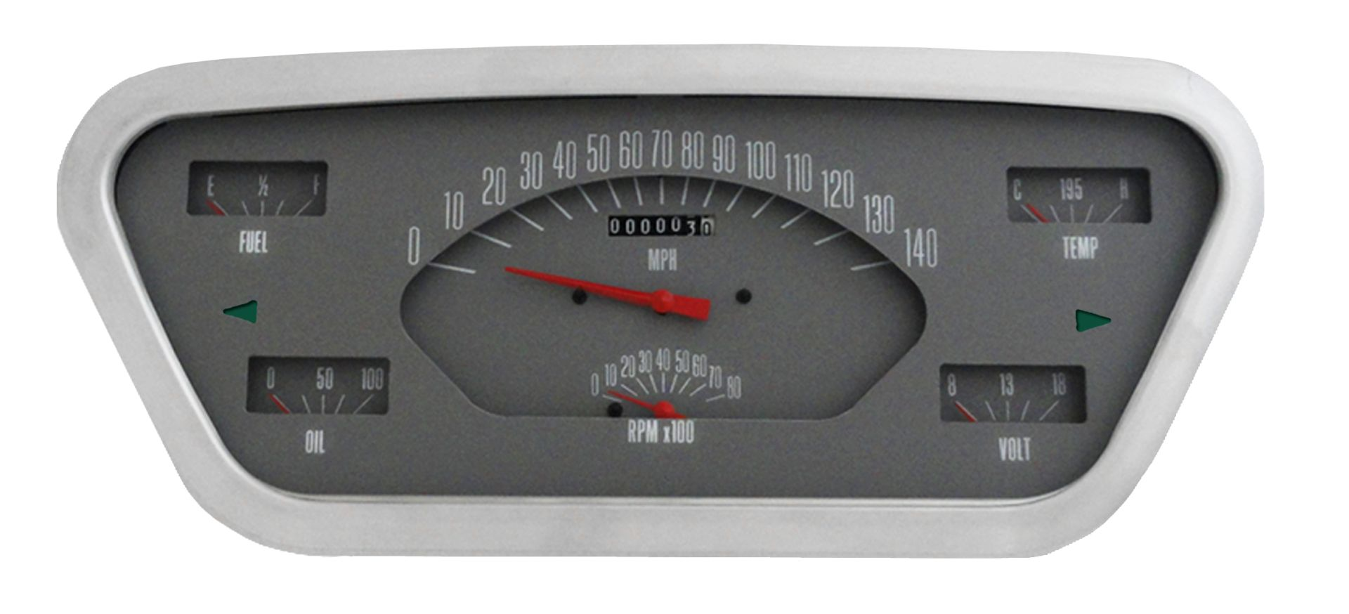 CLASSIC INSTRUMENTS Gauge Cluster - 53-55 Ford F100, Gray