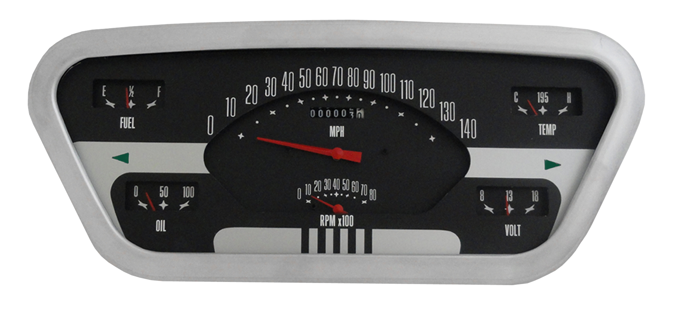CLASSIC INSTRUMENTS Gauge Cluster - 53-55 Ford F100, OE Style