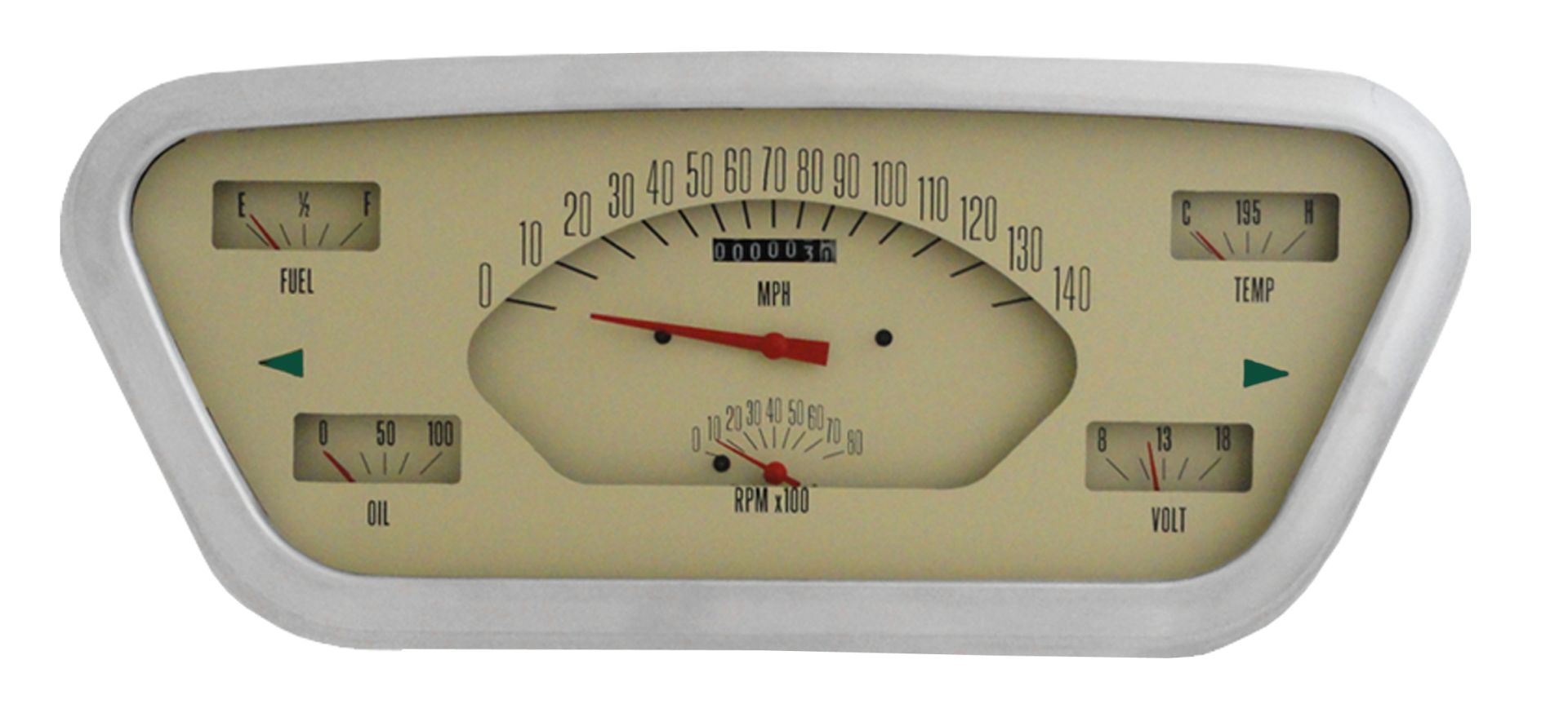 CLASSIC INSTRUMENTS Gauge Cluster - 53-55 Ford F100, Tan