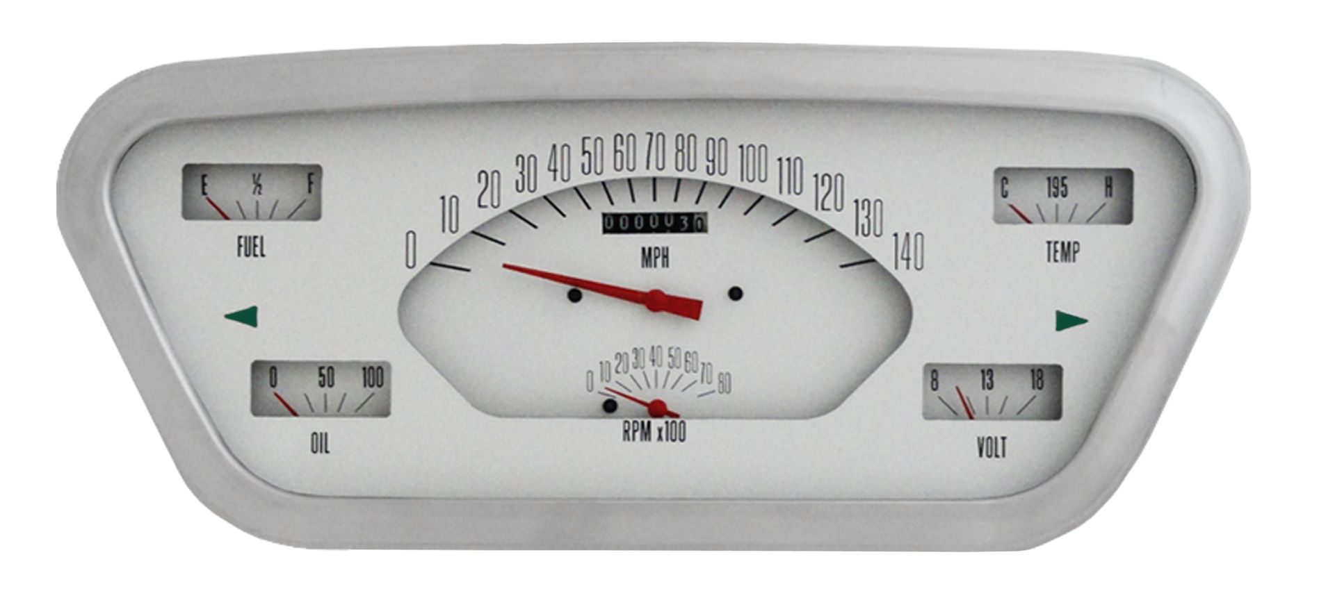 CLASSIC INSTRUMENTS Gauge Cluster - 53-55 Ford F100, White
