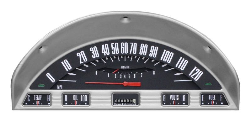CLASSIC INSTRUMENTS Gauge Cluster - 1956 Ford F100, Black