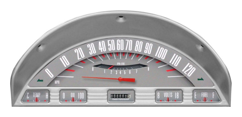 CLASSIC INSTRUMENTS Gauge Cluster - 1956 Ford F100, Gray