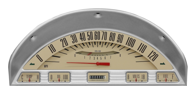 CLASSIC INSTRUMENTS Gauge Cluster - 1956 Ford F100, Tan