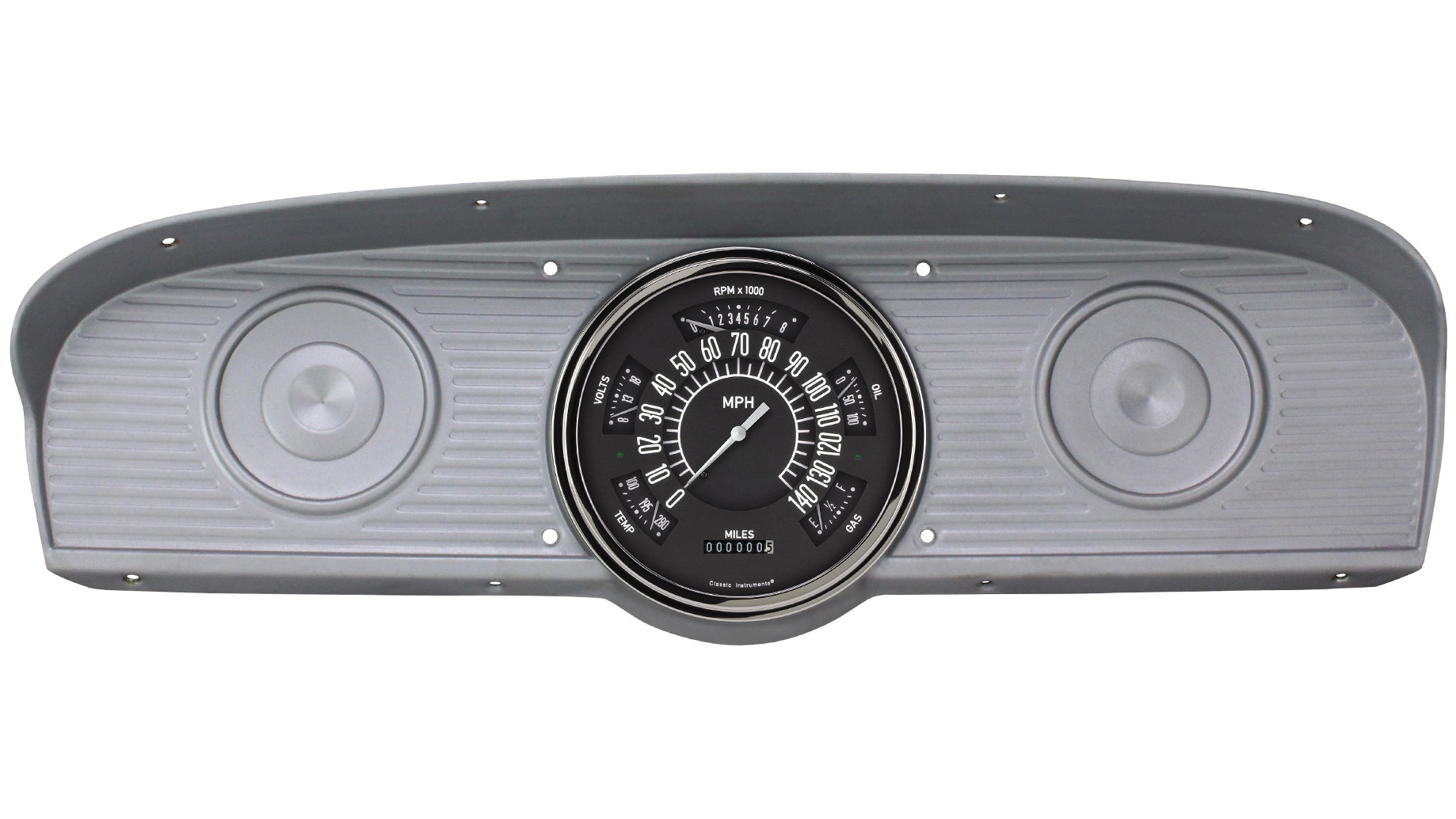 CLASSIC INSTRUMENTS Gauge Cluster - 61-66 Ford F100, Black (10-73 ohm)