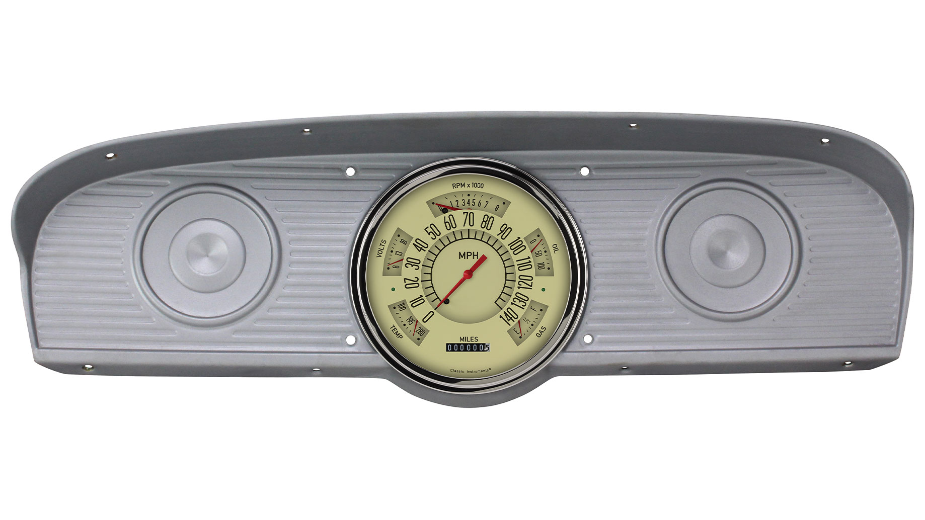 CLASSIC INSTRUMENTS Gauge Cluster - 61-66 Ford F100, Tan (10-73 ohm)