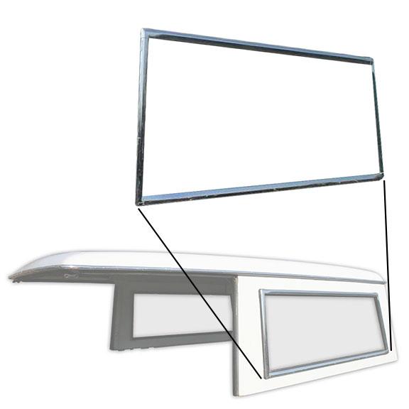 Hard Top Side Window Chrome Trim - Driver Side