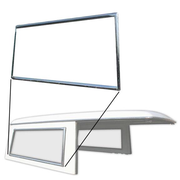 Hard Top Side Window Chrome Trim - Passenger Side