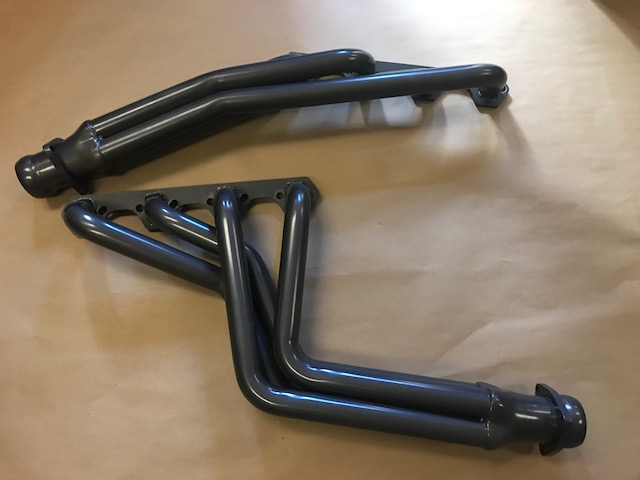 Headers - V8, STAINLESS STEEL JET HOT COATED GRAY (fits 289, 302 & 351w)