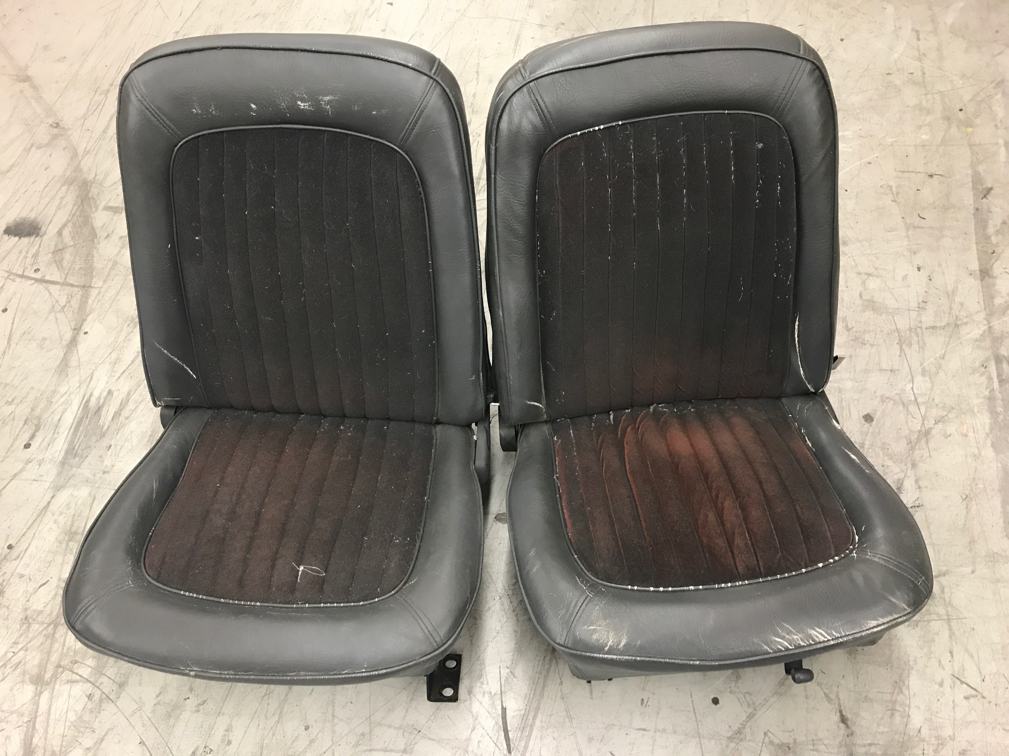 OEM Style Front Bucket Seats w/ Mounting Brackets, Pair, Used, 66-77 Early Ford Bronco
