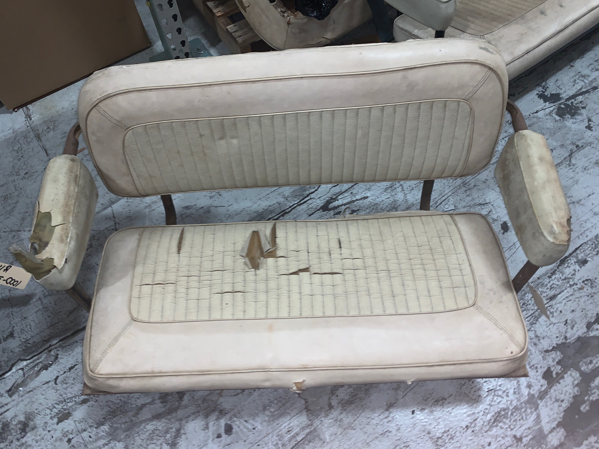 Image for product rear-factory-bench-seat-white-used-66-77-ford-bronco-6