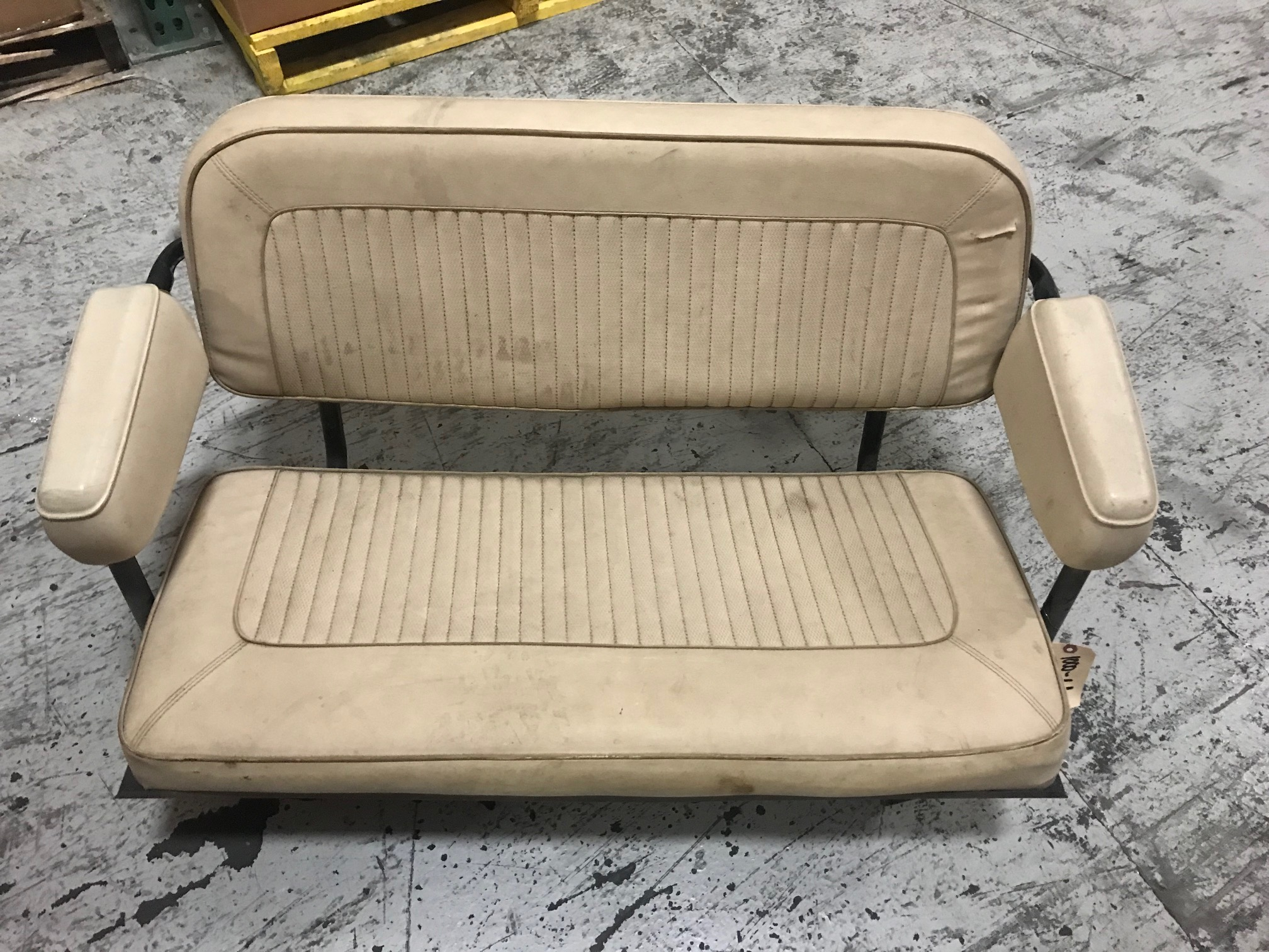 Rear Factory Bench Seat, White, Used, 66-77 Ford Bronco #4