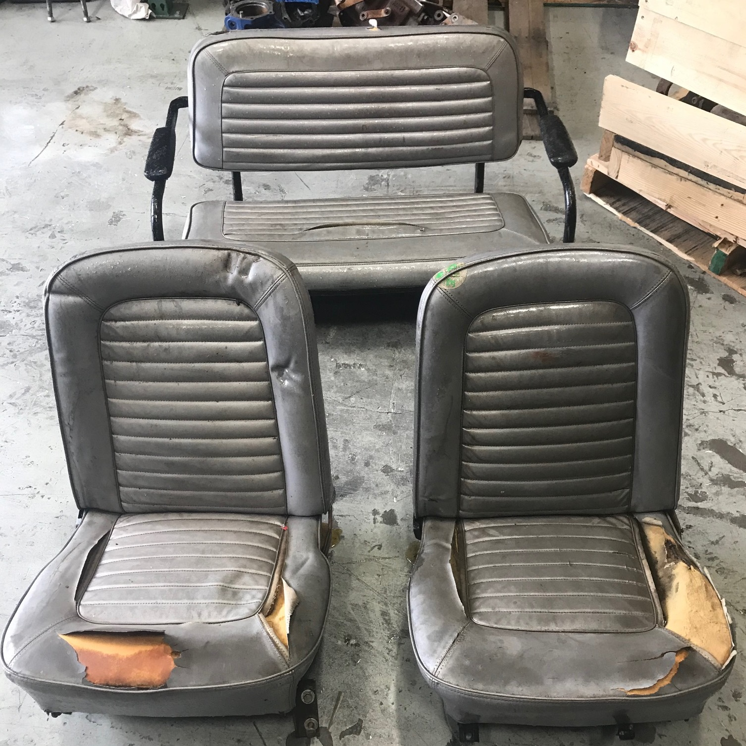 Full Set of Factory OEM 1966 Seats