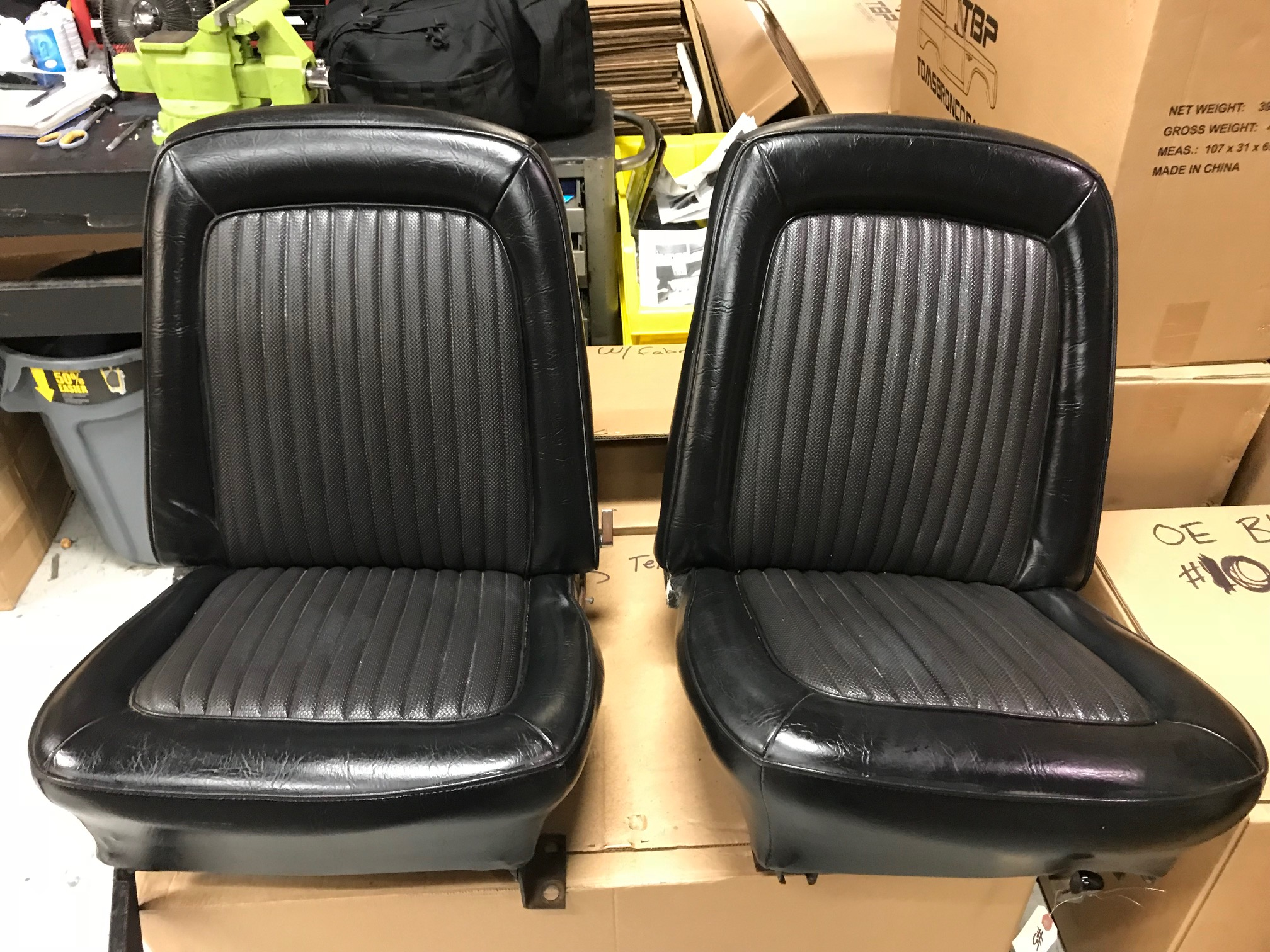 OEM Style Front Bucket Seats w/ Mounting Brackets, Pair, Used, 66-77 Early Ford Bronco #5