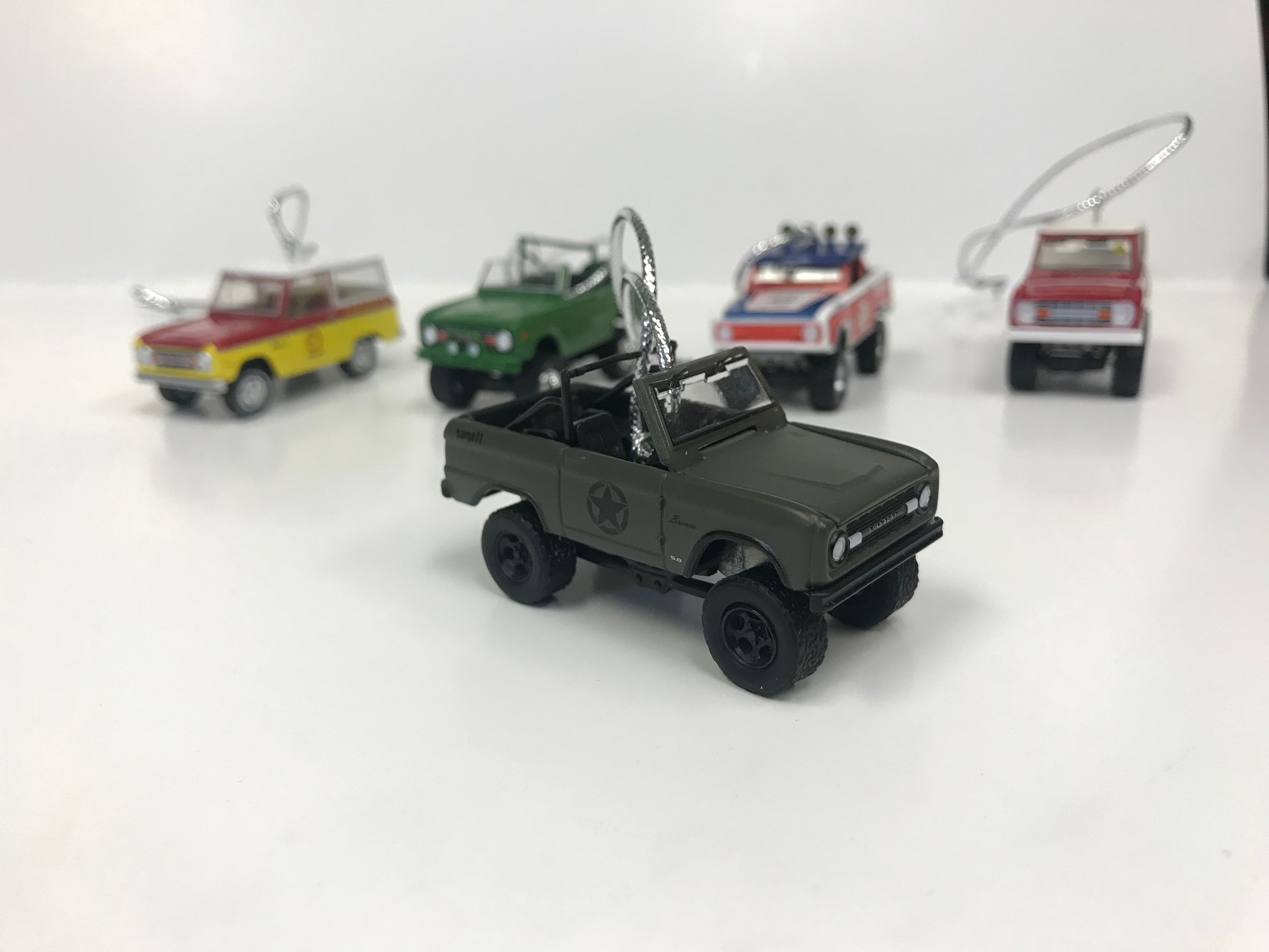 "Christmas Ornament - 1977 Ford Bronco - Military Tribute ""Sarge 77"", 1:64 Die Cast"